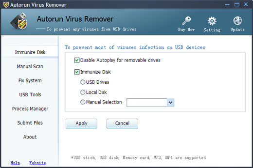 How to disable autoplay for USB drive and local disk