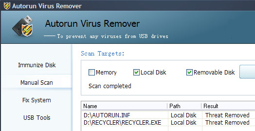 recycler virus removal